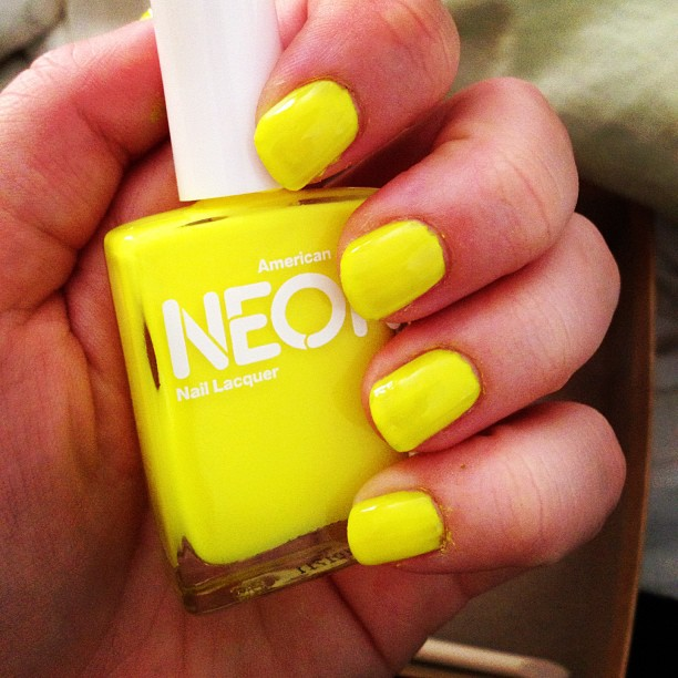 Neon Yellow Green Nail Polish images